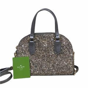 HP🎉 Kate Spade Gunmetal Glitter Sparkle Purse Bag
